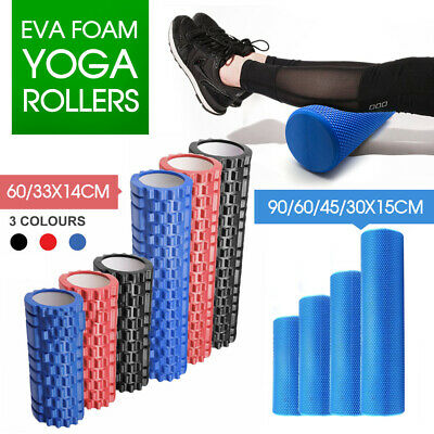 AU24.83 • Buy Eva Physio Foam Roller Yoga Pilates Gym Trigger Point Massage 30/45/60/90 Cm