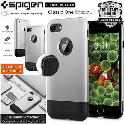AU39.99 • Buy For Apple IPhone 8 7 Case SPIGEN Classic One 2 Layer Air Cushion Slim Hard Cover