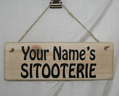 Personalised SITOOTERIE Hanging Outdoor Garden Sign Plaque Patio Shed Allotment • 6.95£