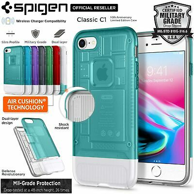 AU59.99 • Buy [FREE EXPRESS] IPhone 8/7 Case, Spigen Dual Layer Classic C1 Cover For Apple