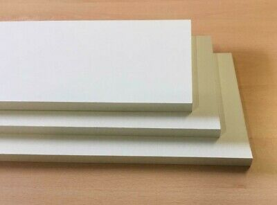 £50.54 • Buy White Melamine Faced Chipboard Wide Board Pack 3 800x685mm   15mm Thickness