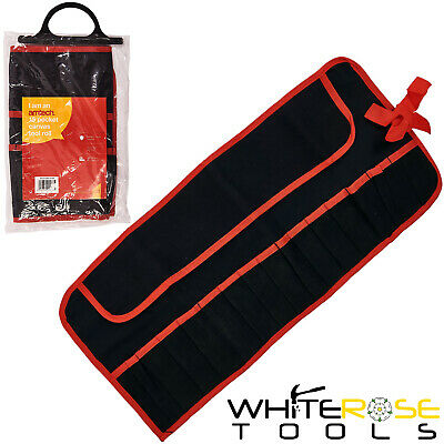 £5.25 • Buy Amtech Tool Storage Roll 15 Pocket Canvas Carry Case Bag Holdall Tidy