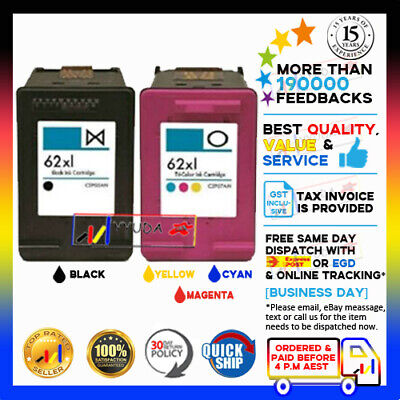 AU59.90 • Buy (NoN-OEM) 62XL 62 XL Black & Color Or Refill For HP Envy 5540 7640 Officejet 250