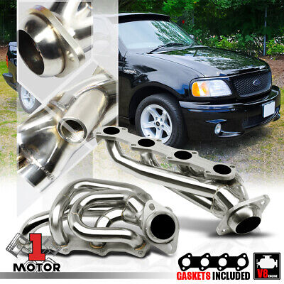 $96.89 • Buy Stainless Steel Shorty Exhaust Header Manifold For 97-04 Ford F150 5.4 330 V8