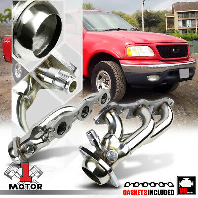$92.89 • Buy Stainless Steel Shorty Exhaust Header Manifold For 97-04 Ford F150 4.2 256 V6