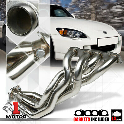 "FOR 00-09 S2K AP1//AP2 2.5/""STAINLESS 4-1 LONG TUBE EXHAUST HEADER MANIFOLD+GASKET"