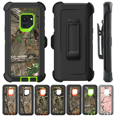 AU12.99 • Buy Samsung S8 S9 S10 Plus Note 9 8 Camouflage Defender Case Cover + Belt Clip Stand