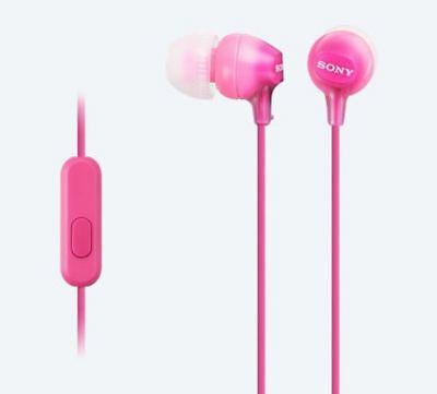 Sony EX15AP In-Ear Stereo Headphones With Mic And Control - Pink • 13.19£