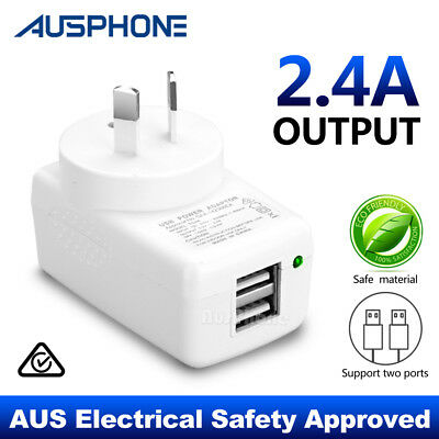 AU13.95 • Buy Dual USB Wall Charger Power Adapter Apple IPhone XS IPad Samsung S9+ S10 Note 10