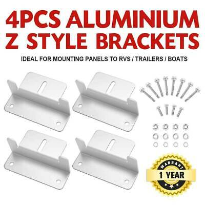 AU19.95 • Buy 4PCS Solar Panel Z Brackets Aluminum Mounting Set For Flat Curved Roof
