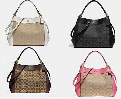NWT Coach Small Lexy Shoulder Bag Signature Jacquard   Leather F29548  325  • 115.00  78d681f946b45