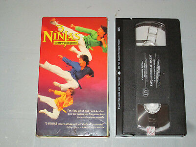 $ CDN5 • Buy 3 Ninjas Contre-Attaque/ 3 Ninjas Kickback (VHS)(French)  Testé