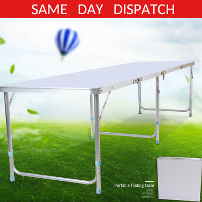 6ft Folding Trestle Table Picnic/camping/bbq Banquet/party/garden Heavy Duty Uk • 30.99£