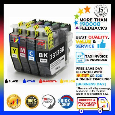 AU24 • Buy 4 X NoN-OEM LC3313 Ink Set For Brother MFC-J890dw J491dw LC3311 HY DCP-J772dw