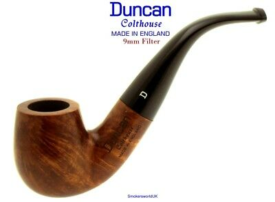 AU65.58 • Buy Duncan Briars Colthouse 9mm Filter Smooth Bent Billiard Pipe B NEW England