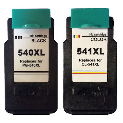 PG-540 XL CL-541 XL Set 2 Pack Ink Cartridges For Canon PIXMA MG3600 MG3650 • 24.95£