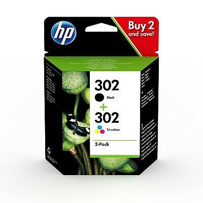 HP 302 Black & Colour Genuine Ink Cartridge For Deskjet 3630 Inkjet Printer • 27.75£