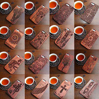 Luxury Natural Wooden Wood Case For IPhone 6 7 Plus 8 Plus 5 5S SE Cover • 4.99£