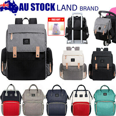 AU33.99 • Buy GENUINE LAND Multifunctional Baby Diaper Backpack Changing Bag Nappy Mummy AU