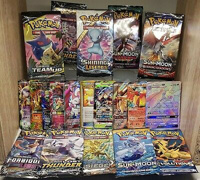 AU18.95 • Buy Pokemon Cards ULTRA + BOOSTER PACK 1x Ultra/Rare/EX/V/Vmax/GX Amazing Gift