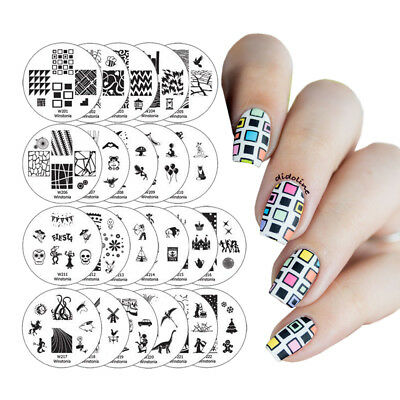$9.95 • Buy Winstonia Easy Nail Art Stamping Plates Set Image Bundle Manicure Template Discs