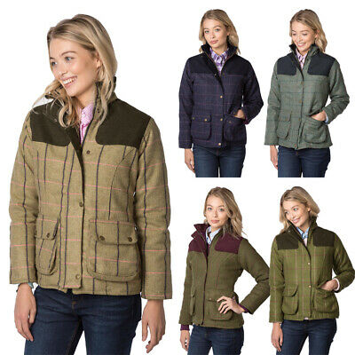 Ladies Short Check Tweed Jacket Women's Country Field Coat Sizes 8 To 18 Rydale • 76.99£