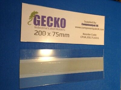 £32.50 • Buy Self-Adhesive Clear Plastic GECKO U-Type Label Holder (200x75mm) (Pack Of 50)
