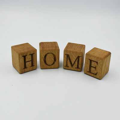 £3 • Buy Personalised Solid Oak Letter Cubes, Wooden Block Letters **SOLD INDIVIDUALLY**