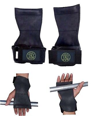 £6.99 • Buy Golds Gym Weight Lifting Grips Training Gym Straps Gloves Wrist Support Bar Wrap