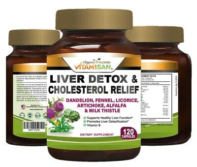 £10.79 • Buy Liver Cleanse & Detox Support Supplement 1600mg With 120 Caps  + Milk Thistle