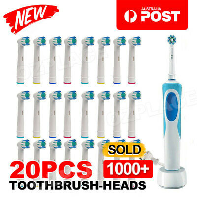 AU15.85 • Buy 20pcs Electric Toothbrush Replacement Heads For Oral B Braun Models Series AU