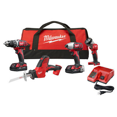 Milwaukee M18 4-Pc. Combo Kit 2695-24CX New