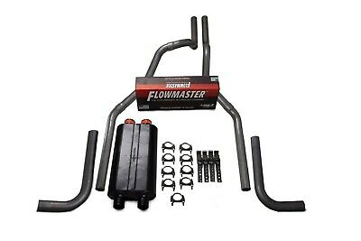 $385.86 • Buy 01-06 Chevy GMC 2500 Truck 2.5  Dual Exhaust Kit Flowmaster Big Block Side Exit