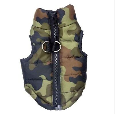 Dog Pet Waterproof Clothes Padded Coat Camouflage Warmer Winter Jacket Top Vest • 6.99£