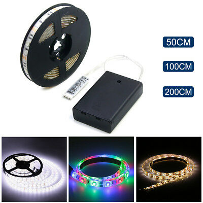 $1.77 • Buy Battery Powered LED Strip Light 3528 SMD Tape With Battery Box White RGB 0.5M-2M