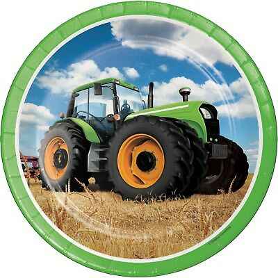 AU6.99 • Buy Tractor Farm Birthday Party Supplies Large Dinner Plates (pack Of 8)
