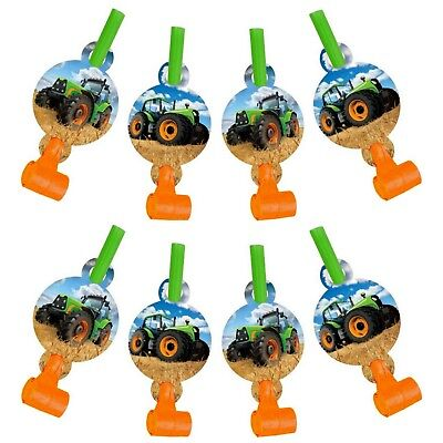 AU7.99 • Buy Tractor Farm Birthday Party Supplies Blowers Blowouts Pack Of 8