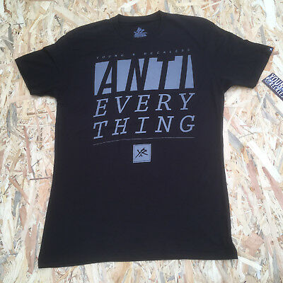 Young And Reckless Black ' Anti Everything' T-Shirt **NEW**  • 5.59£
