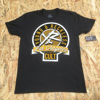 Young And Reckless Charcoal Grey ' Los Angeles Is A Cult' T-Shirt **NEW**  • 5.59£