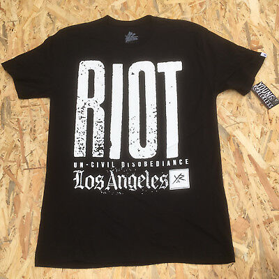Young And Reckless Black 'Riot Los Angeles' T-Shirt **NEW**  • 5.59£