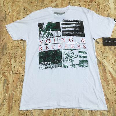 Young And Reckless White 'Picture Print' T-Shirt **NEW**  • 5.59£