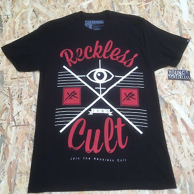 Young And Reckless Black 'Reckless Cult Eye' T-Shirt **NEW**  • 5.59£