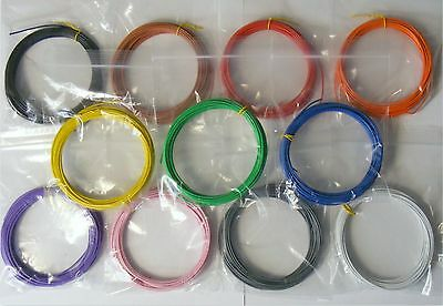 £8.39 • Buy 55m 1/0.6mm Equipment Wire Kit 11 Colours  22-23 AWG Single Solid Core WP-011618