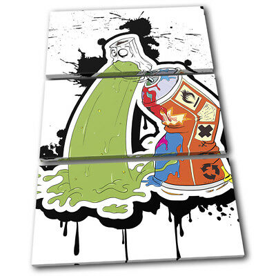 Spray Paint Can Vomit Street Art Graffiti TREBLE CANVAS WALL ART Picture Print • 34.99£