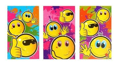 £3.69 • Buy Mini Smiley Face Notebooks / Notepads - Assorted Designs Party Bag Filler Kids