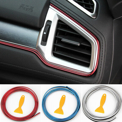 $5.53 • Buy 5M Line Car Van Interior Decor Red Point Edge Gap Door Panel Accessories Molding