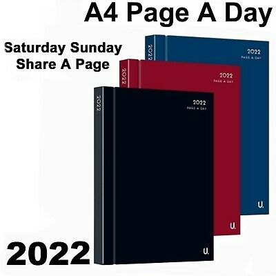 £2.95 • Buy 2022 Diary A4 A5 Hard Back Page A Day Or Week To View Office Appointment Student