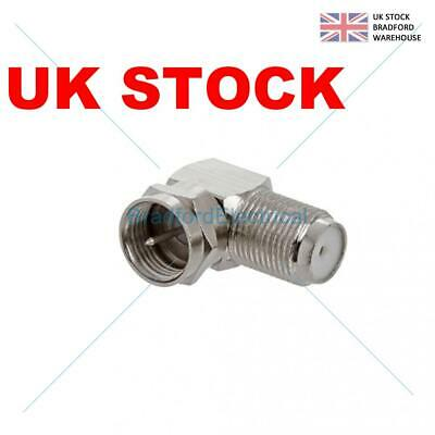 £1.48 • Buy Right Angle TV Aerial F Plug Satellite SKY Virgin Connectors 90 Degree Adapter