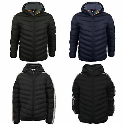Boys Hooded Padded Jacket Back To School Puffer Puffa Warm Winter Quilted Coat • 16.99£