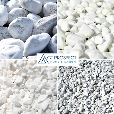 £7.49 • Buy Grave Stone Decorative Chippings / Pebbles Natural White Marble Memorial Tomb